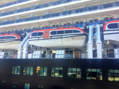 Life boat on cruise ship.